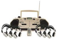6-Person Wireless Cassette/Recorder Center 2395IRPLC-6