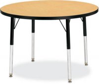 "Activity Table 48"" Round Melamine Laminate Table Top Adjustable Height (COLOR OPTION AVAILABLE) 6433JCT"