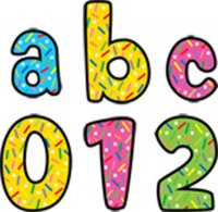 "1"" Designer Letter Stickers Sprinkles Lowercase [CTP4614]"