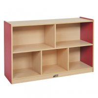"Colorful Essentials Storage Cabinet 5 Comp 30""H RED ELR-0712-RD"