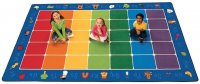 Fun with Phonics Seating Rug Factory Second Size 7'6 x 12' Rectangular CK 9612