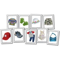 Nouns:Children's Clothing Photographic Learning Cards (A15-KE845023)
