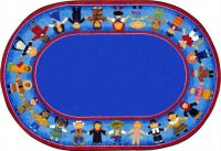 Children Of Many Cultures Rug 5'4 x 7'8 Oval  JC1622CC