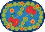 ABC Caterpillar Oval Classroom Rug