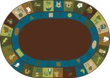Learning Blocks Nature Rug Oval