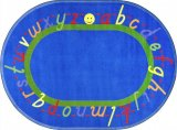 AlphaScript EDUCATIONAL OVAL RUG J1478