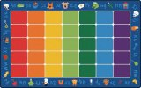 Fun with Phonics Seating Rug Oval & Rectangle Size Options Avaiable