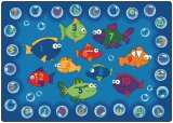 Fishing for Literacy Rug Oval & Rectangular