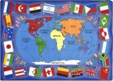 Flags of the World Classroom Rug Size Option Available 1444