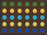 Lots of Dots Earthtones Seating Rug 1430