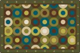 Alphabet Calming Circles Rug Rectangular