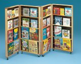 4-Panel Folding Book Display A14-742 4