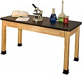 "HIGH PRESSURE LAMINATE TOP SCIENCE TABLE 30""X 60"" BS3060BK"