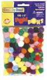 "Pom Pons - 1/2"" - 100 Pcs Assortments CK-8114-01"