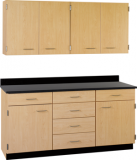 "66"" Wide Work Suite with Center Drawers and Locks (COLORS OPTION AVAILABLE) 84506 F66"