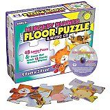 Nursery Rhymes Floor Puzzle & Music CD F07-1208PZ