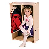 TODDLER LOCKER - 2 SECTION Birch Plywood TRJ-S392-2