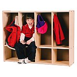 TODDLER LOCKER - Birch Plywood 4 SECTION TRJ-S392-4