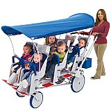 Angeles Runabout 6-Passenger Stroller AFB6850F