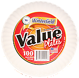VALUE WHITE PLATES 9""