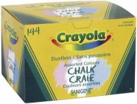 Crayola dustless chalk asst. coloured 51-6144