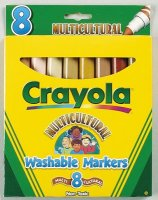 Crayola multicult. washable markers A65-0651
