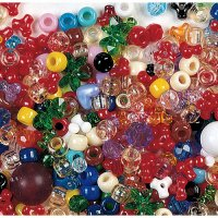 1 lb Assorted Plastic Beads CK-3560