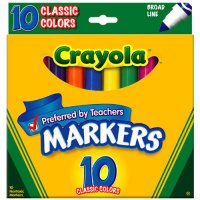 10 Crayola Broad Line Markers A26-567708