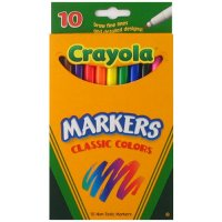 12 Crayola Washable Thin Markers A26-587510