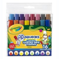 16 Crayola Pip-Squeaks Wacky Tips Markers A26-582320