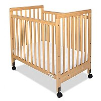 "SafetyCraft Compact Fixed-Side Crib Slatted Ends with3"" Thick Mattress FD1631040"