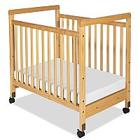 "SafetyCraft Compact Fixed-Side Crib Clearview Ends with 3"" Thick Mattress 1632040"