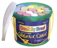 Sidewalk Chalk - 20 Pcs Bucket - Assorted Colors CK-1700
