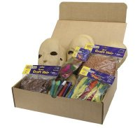 Papier Mache Mask Activities Box - 12 Masks CK- 1734