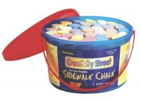 Sidewalk Chalk - 37 Piece Bucket - Assorted Colors CK-1736