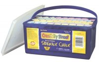 Sidewalk Chalk - 52 Piece Tub - Assorted Colors CK- 1752