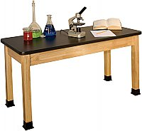 "CHEMICAL RESISTANT HIGH PRESSURE LAMINATE TOP SCIENCE TABLE 24""X 48"" BS2448BA"