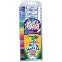 24 Crayola Pip-Squeaks Skinnies Markers A26-584324