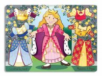 Princess Dress-Up Mix 'n Match Peg Puzzle  Item MD- 3291