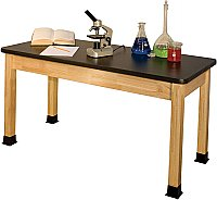 "HIGH PRESSURE LAMINATE TOP SCIENCE TABLE 24""X 54"" BS2454BK"