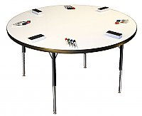"DRY-ERASE MARKERBOARD ACTIVITY TABLE 30""Inch Round ADJUSTABLE HEIGHT M536CR"