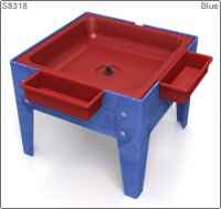 Toddler Mite Sensory Table Red Tub with Blue Frame S8318 RDBL