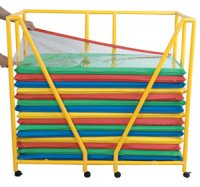 Rest Mat Storage Trolley Yellow 80 pc/set CF905-074