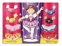 Ballerina Dress-Up Mix 'n Match Peg Puzzle  Item MD- 3292
