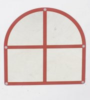 Arched Windowpane Mirror (CF332-552)