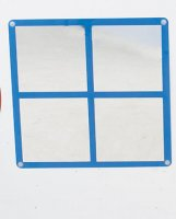Square Windowpane Mirror CF332-554