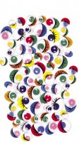 Wiggle Eyes - Round & Oval - 100 Pcs Assortments 3452-01 – Multi Color