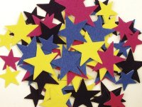 Felt Stars - Assortment - 64 Pcs CK3933