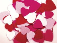 Felt Hearts - Assortment - 70 Pcs CK-3952