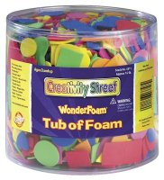 WonderFoam® Shapes Tub - 3000 Pcs - 1/2 Pound CK4311